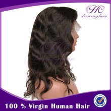 Women Fashion Indian Remy Virgin Half Human Hair Extension And Lace Front Wig Men