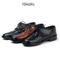 Chinese factory new italy design men leather shoes & dress shoes