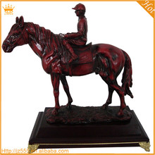 Plated horse shaped resin trophy, resin horse statue