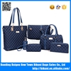 Newest design luxury pu high quality bags women shoulder ladies handbags set with 5 pcs
