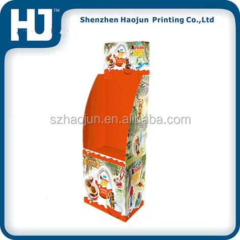 Custom cardboard dump bin display stands light weight for cake