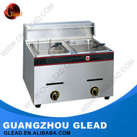 2016 China supplier automatic gas double deep chips fryer/chicken fryer for sale
