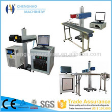 30W Flying laser label marking machine on Production line Cable date time logo