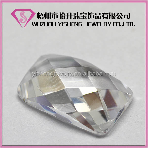 Synthetic Clear Bulk Gemstone faceted cut stone for jewels