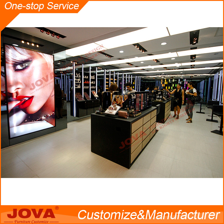Luxurious cosmetic display cabinet and showcase,makeup shop design