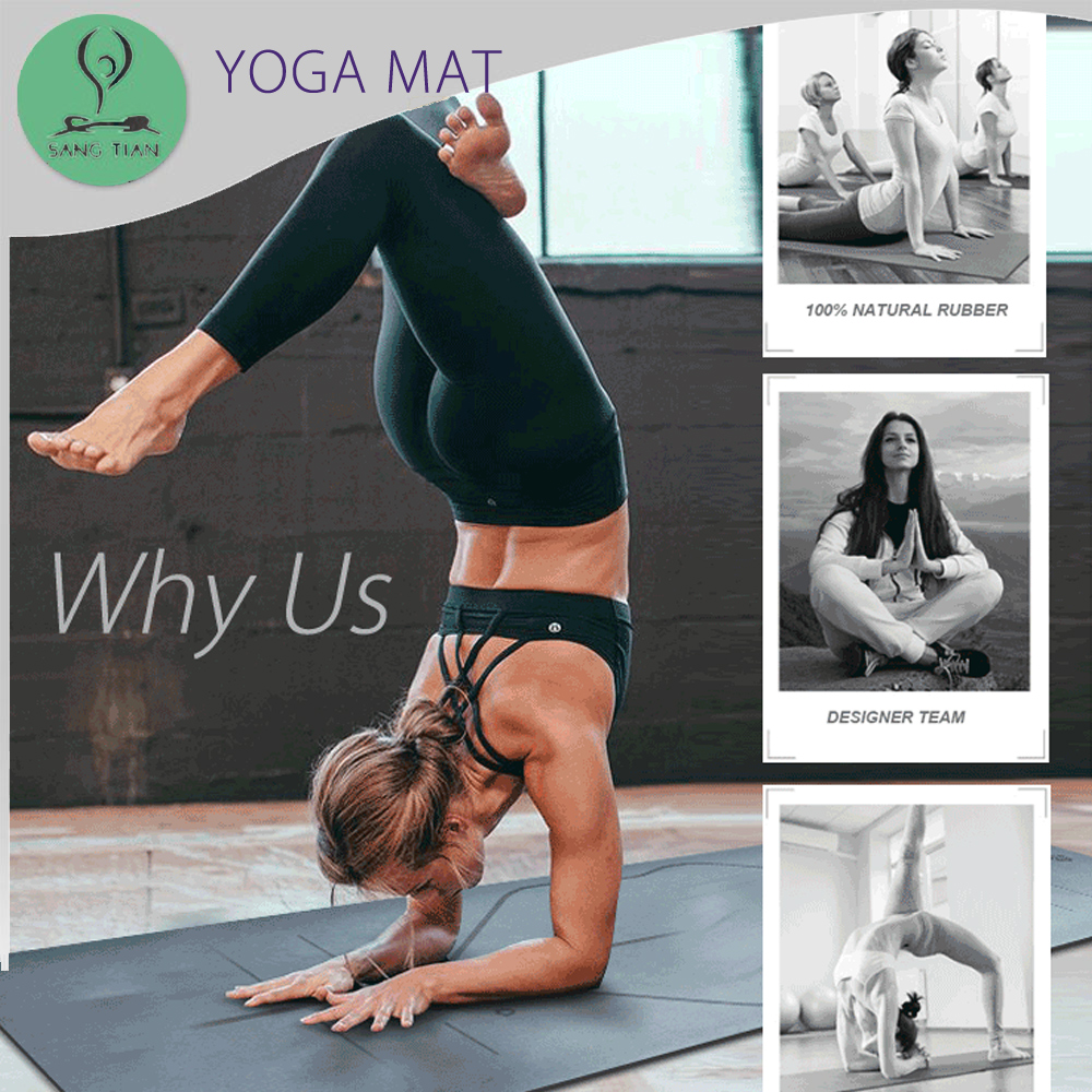 Custom printed <strong>eco</strong> black yoga matt ultra-grippy polyurethane exercise pu yoga mat manufacturer