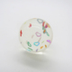 Newest lovely paper card clear rubber crystal ball solid rubber balls