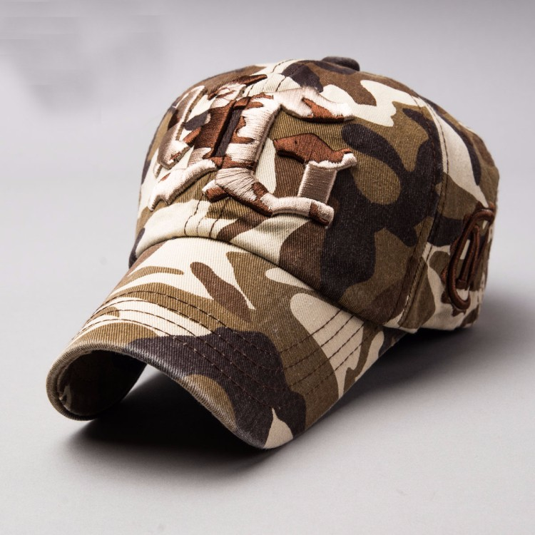 custom mens camo 3d embroidered baseball hats and caps