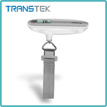 Transtek stainless steel pocket digital hanging scale 50kg luggage scale with Overload indicator