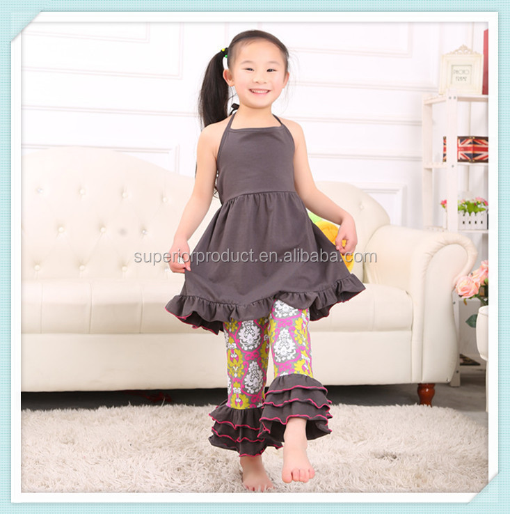 toddler girls floral china style dress 2pcs set cotton ruffle pants preorder spring summer halter dress flower posh outfits sets