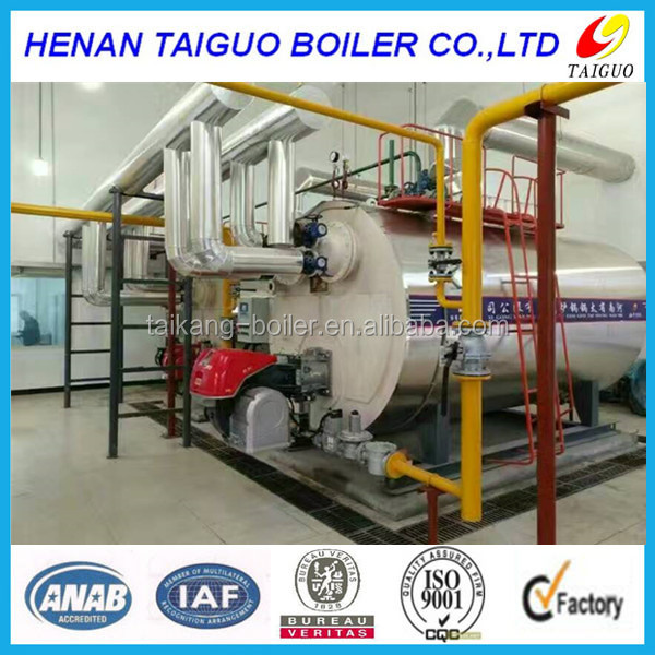 WNS series 1 ton good quality horizontal industrial oil field /diesel/natural gas fired steam boiler for sale