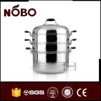 Multi-purpose large stainless steel food steamer pot india