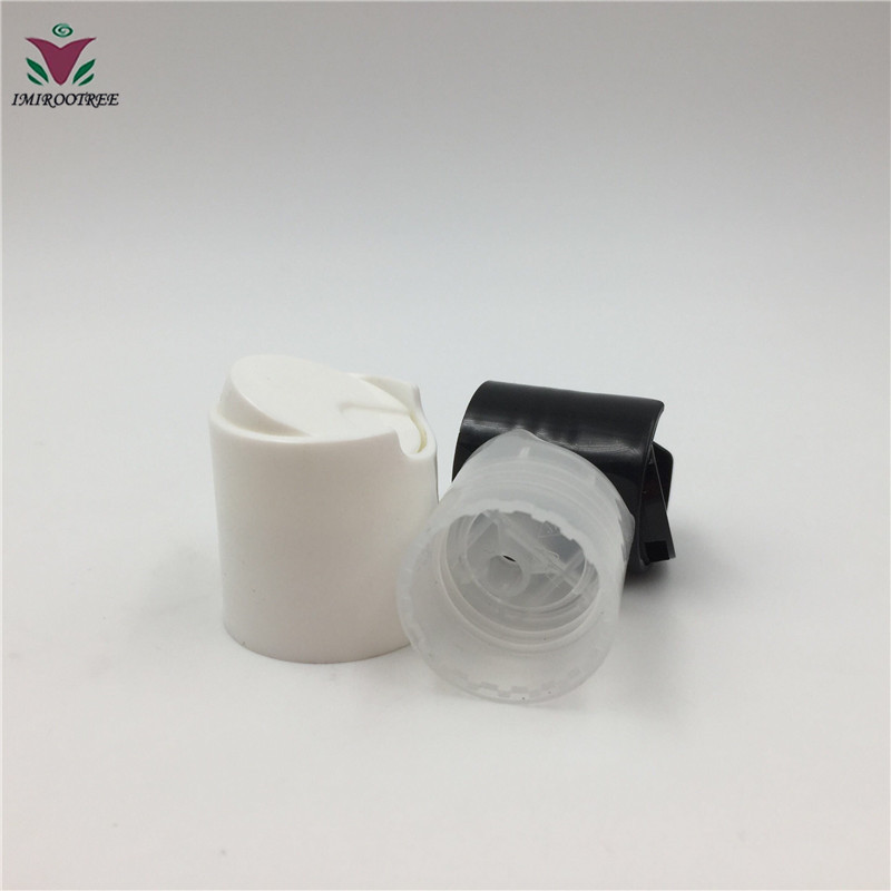 20/410 24/410 28/410 White Black Clear Plastic Press Cap Disc Top Shampoo Cap for Cosmetic Bottle