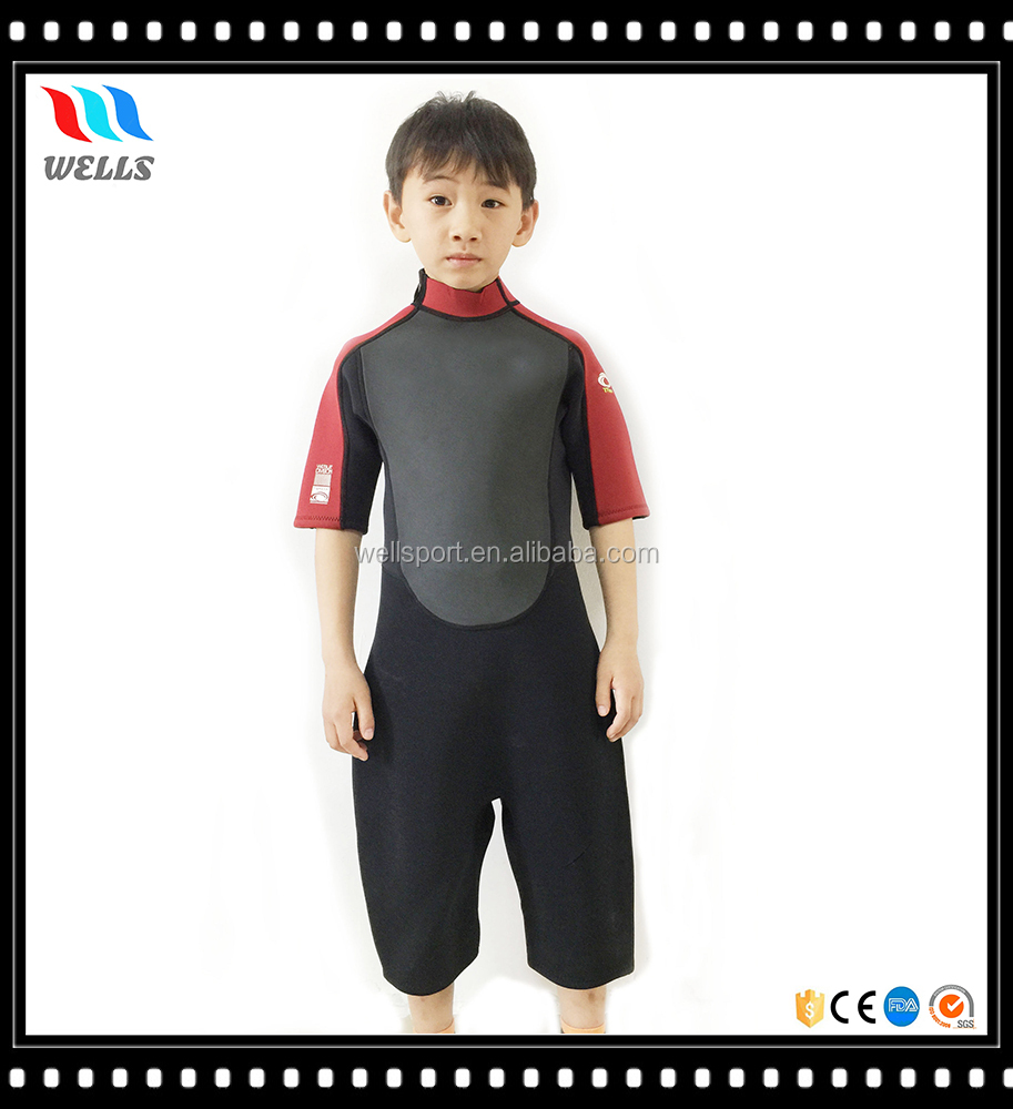 Kids 3mm UV Protective Colorful Kids Wetsuit Shorty