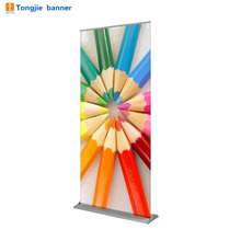 Custom easy retractable scrolling roll up banner stand