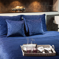 Emma luxury velvet bedding set 220x200 perfect navy