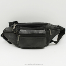 Classic and high quality genuine leather waist bag