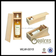 Wooden Customized wine boxes with slide lid