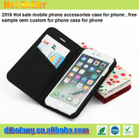 2017 Hot sale mobile phone accessories case for iphone 6s, free sample oem custom fur phone case for iphone 7