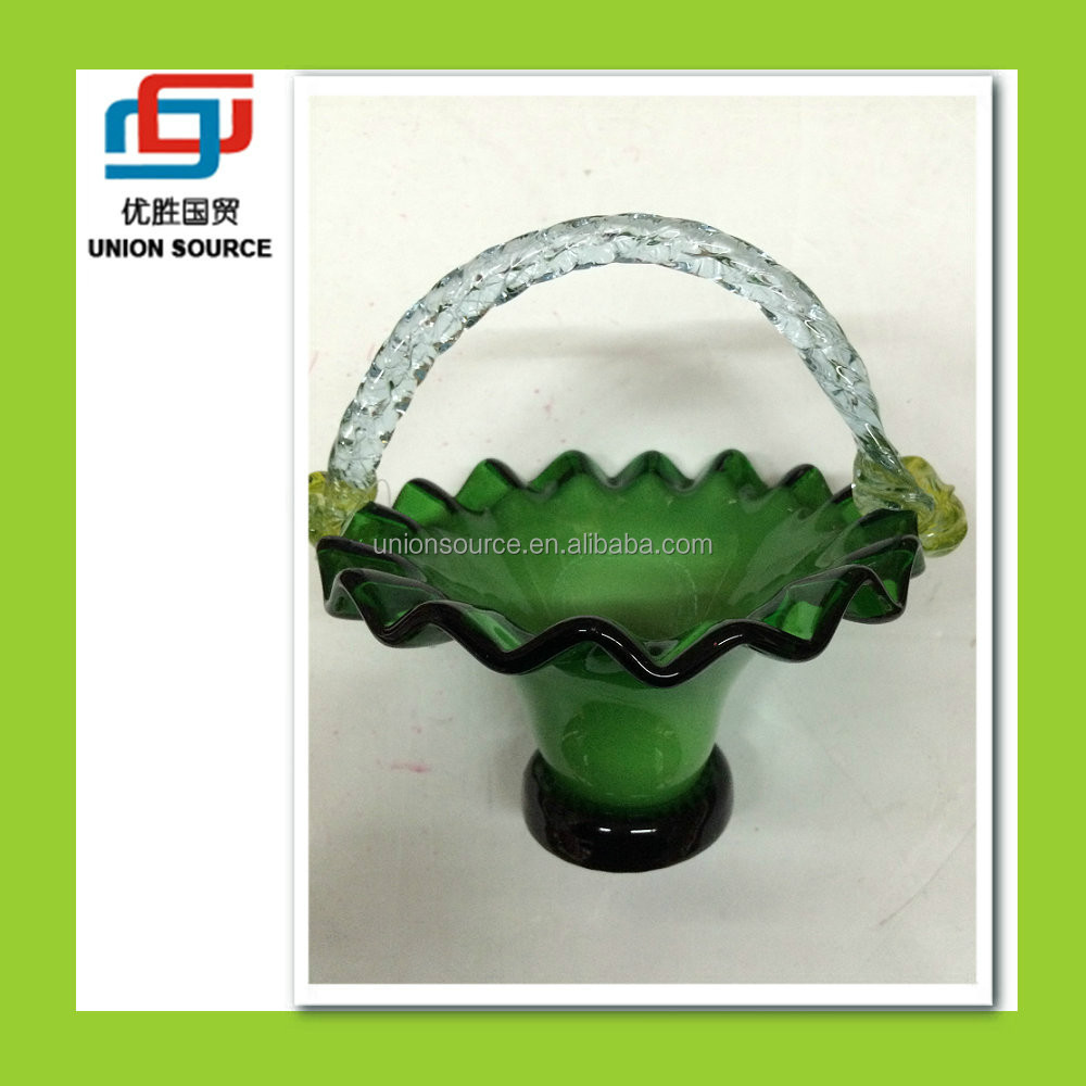 Flower Shaped Clear Glass Hanging Vase