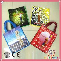 ICTI Factory promotion and elegant advertise non woven shopping bag