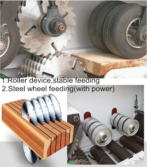 Rubber Plank Woodworking Multi Rip Saw Machine MJ3016 Timber Cutting Machine