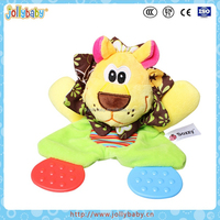 High Quality Animal Plush Stuffed Baby Teether Toys
