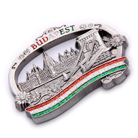 souvenir custom metal fridge magnet for different countries
