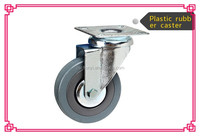 Rubber Caster and wheel With Swivel