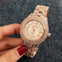 2016 New Funny Lady Crystal Gold Diamond Quartz Analog Wristwatches Wrist Watch for Women Men watches