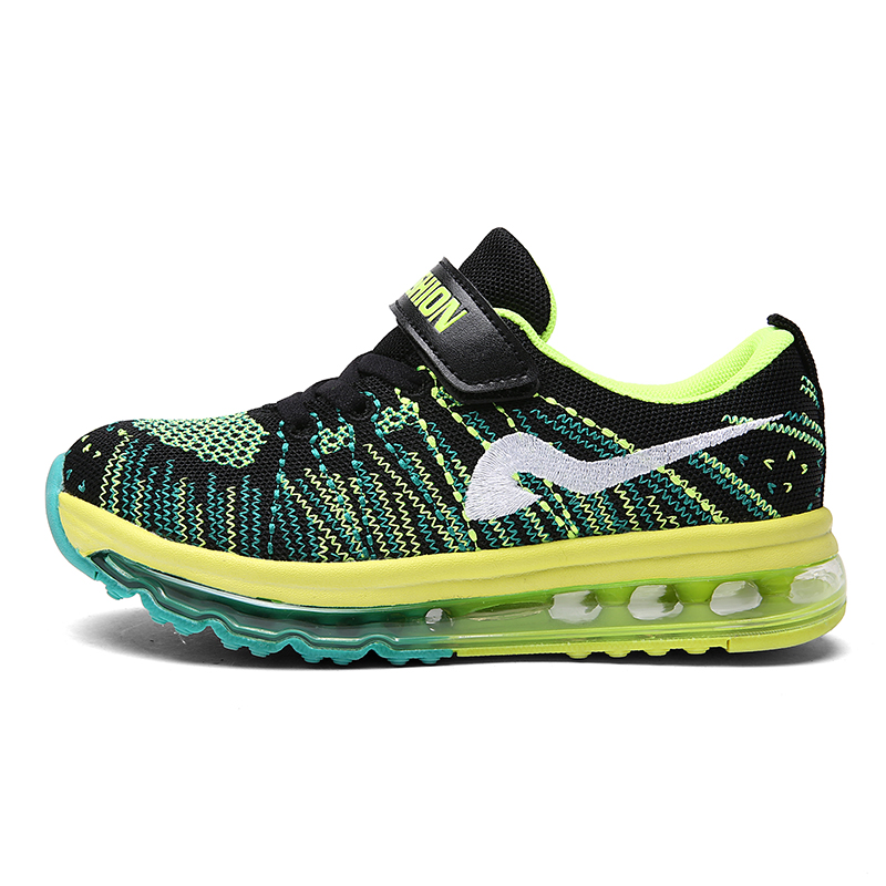 2015 High style sneaker breathable upper woven air cushion action sports running shoes