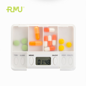 TP01B Smart Pill Box Reminder Timer Mini Electronic Automatic Counter Capsule Holder 7 Day Travel Pill Organizer Case