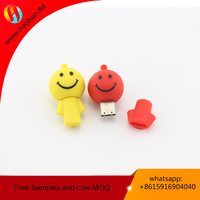Promotional gift silicone with custom logo factory best price 16GB USB memorial stick