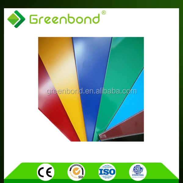 Greenbond insulated aluminum roof foil decoration panels with standard size acp sheet