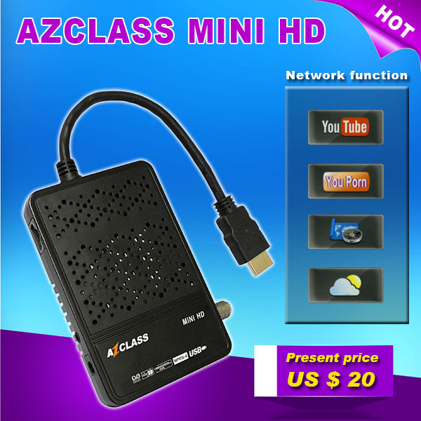 Original AZCLASS MINI HD mini full hd dvb-s2 satellite receiver with IKS Nagra 3 CCcam For South America Chile Brazil Colombia