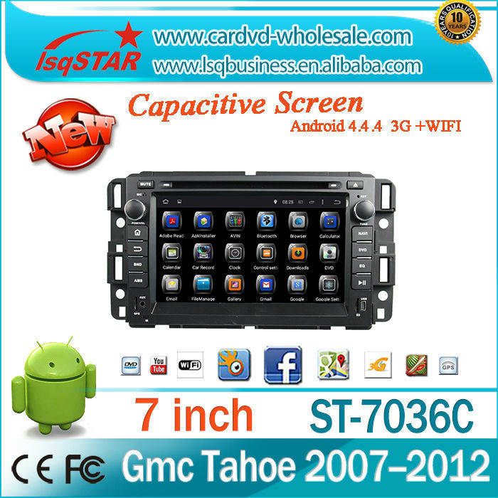 "Newest 7"" Android 4.4 radio audio dvd gps Bluetooth RDS Car DVD for GMC Yukon/Tahoe 2007--2012"