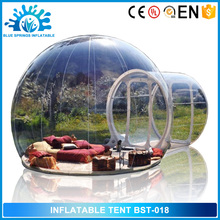 Blue Springs Manufacture Customized inflatable clear bubble tent