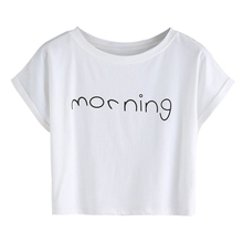 Printed plain white tshirt 100% cotton crop tops wholesale unbranded blank t-shirts woman clothes