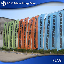 wholesale outdoor advertising beach feather flag for promotion