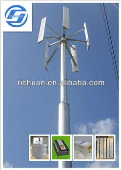 2015 Lower rpm Vertical Wind Turbine System