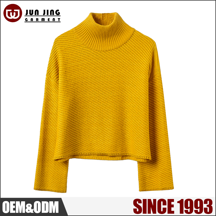 Winter knit pullover thick knitwears long sleeve ladies fashion korean sweater