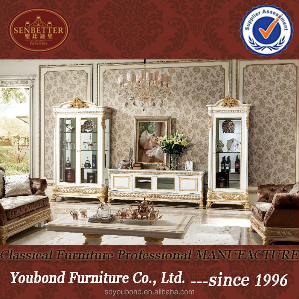 0062 Fancy Arabic Living Room Tv Cabinet Furniture