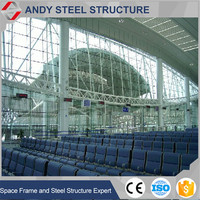 Prefabricated Steel Roof Trusses Railway Station Covering