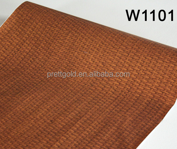 Wood grain self adhesive foil PVC film waterproof wallpaper for decoration with embossed