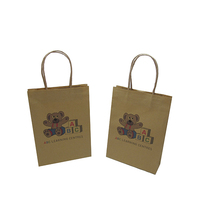 custom special painting brown craft paper bag for children gift