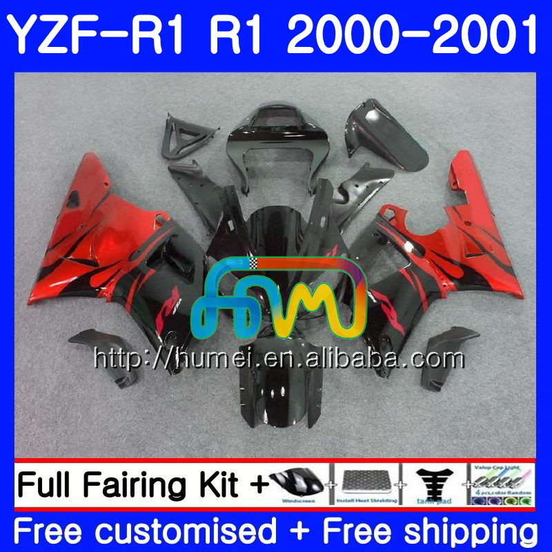 Body For YAMAHA YZF R 1 YZF 1000 YZF-<strong>R1</strong> <strong>00</strong>-<strong>01</strong> Bodywork red flames 98HM4 YZF1000 YZF-1000 YZF <strong>R1</strong> <strong>00</strong> <strong>01</strong> YZFR1 2000 2001 Fairing