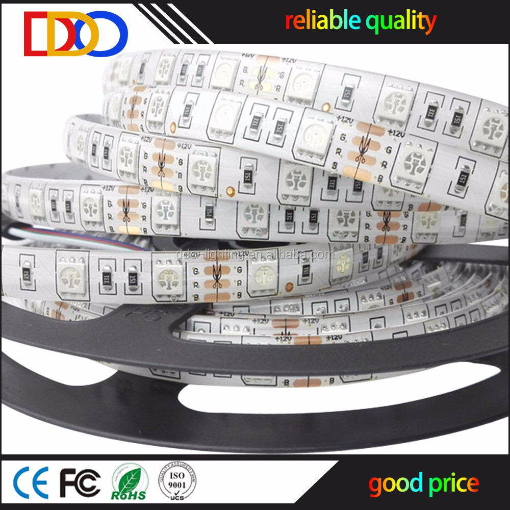 smd 5050 rgb flexible led strip (60led/m) with factory price
