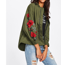 Topshop Embroidery Patch High Low Utility Jacket