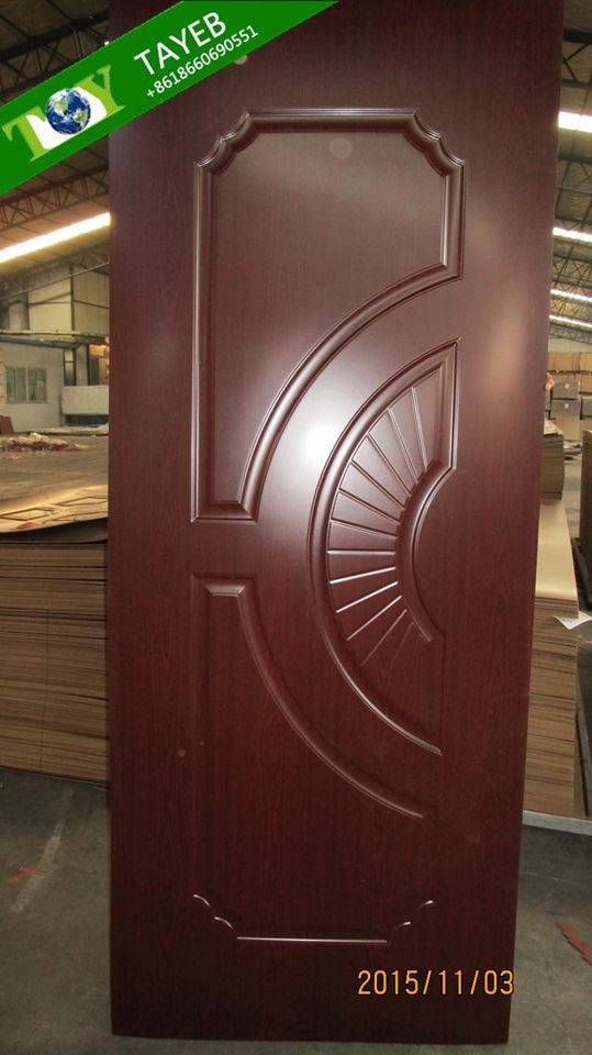 Melamine door skin hdf door skin decorative interior door for Mahogany door skin