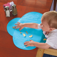 BPA free colorful soft silicone kids table mat /tablemat / placemat